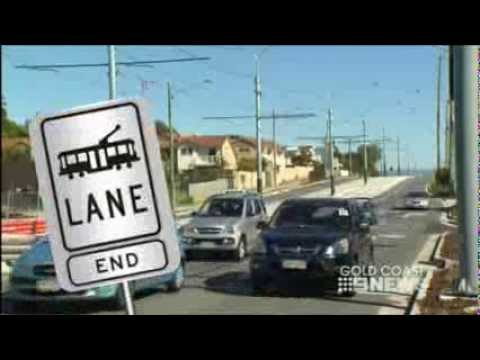 First Tram traffic signals on the Gold Coast - Channel 9 News