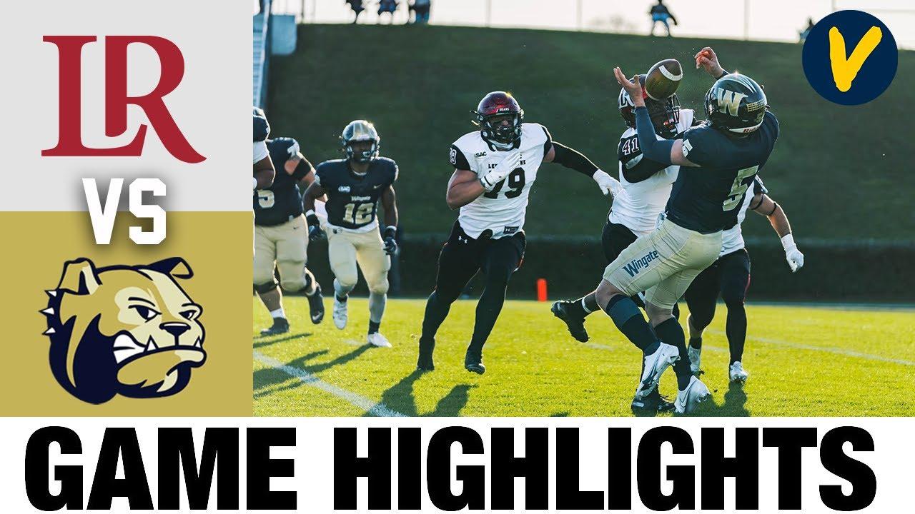 Lenoir-Rhyne vs Wingate Highlights | D2 2021 Spring College Football Highlights
