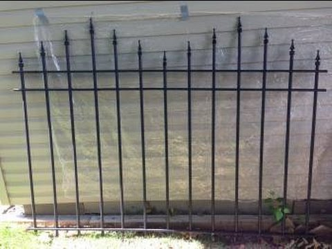 cemetery fence build youtube