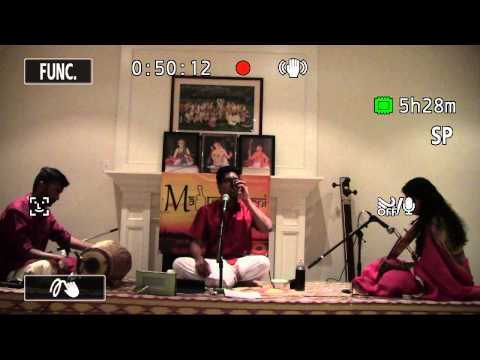Maduradhvani Toronto Series - Concert # 15 by Chi. Sumant Anantharam December 05, 2015