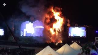 Incendio en Tomorrowland