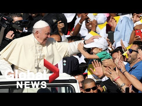 Pope Francis holds historic papal Mass in Abu Dhabi, tens of thousands attend