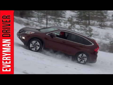 BONUS FOOTAGE 2015 Honda CR V AWD Snowy Off Road on Everyman Driver, Dave Erickson