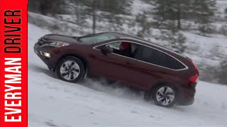Watch Out: 2015 Honda CR-V AWD Snowy Off-Road on Everyman Driver, Dave Erickson