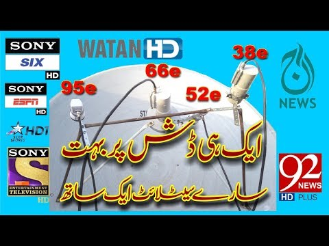 How To Set ( Intelsat 17 66e/Yahsat 52e/Paksat 38e/NSS6 95e/ in one dish