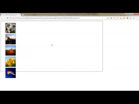 HTML 5 Drag And Drop Example Using JavaScript