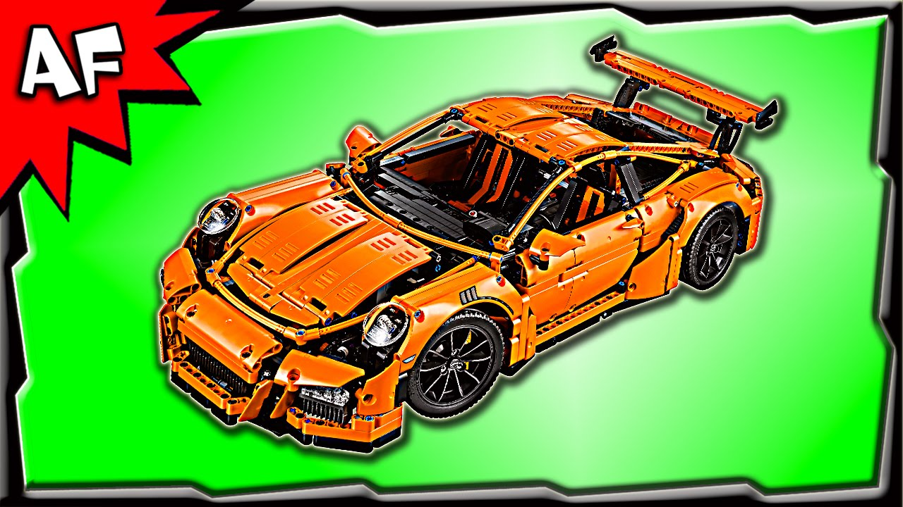lego technic porsche 911 gt3 rs 42056 speed build review youtube