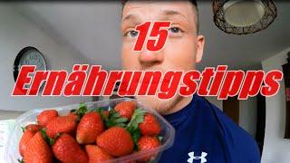 15 Ernährungstipps - einfach abnehmen