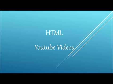 HTML YouTube Videos | Playing A YouTube Video In HTML | Controls | Autoplay | Beginner Level