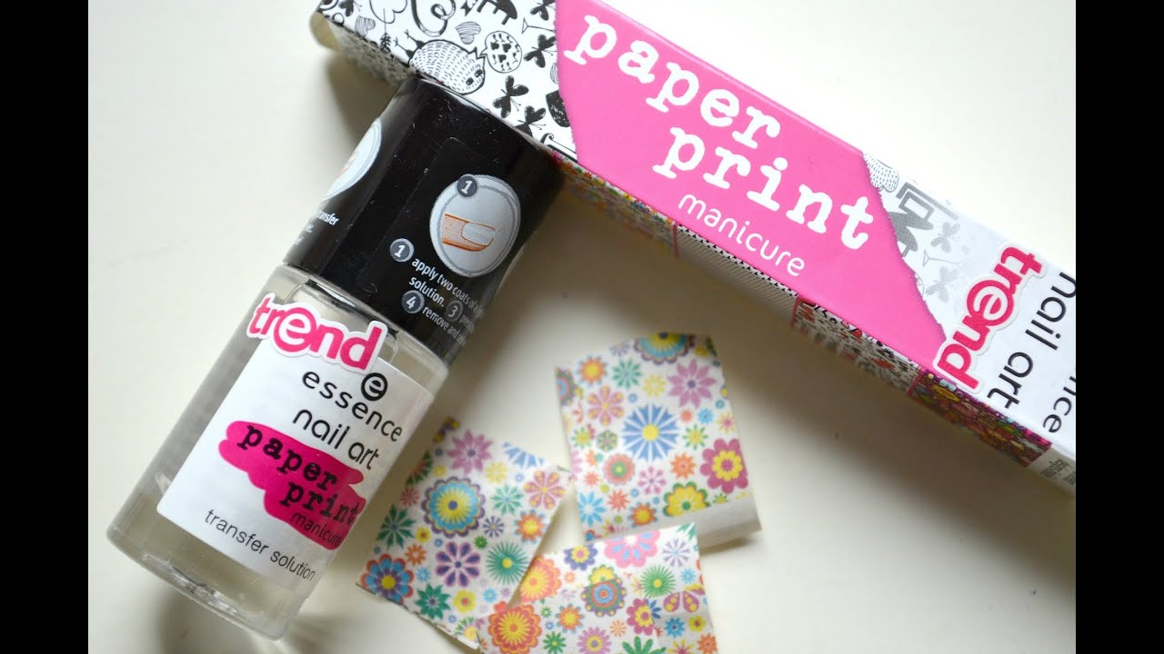 Essence paper print manicure nailsbylaura youtube prinsesfo Image collections