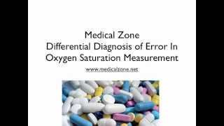 Medical Zone - Differential Diagnosis of Error In Oxygen Saturation Measurement