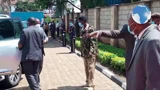 CS Mutahi Kagwe arrives in Kericho county ahead of Covid 19 update