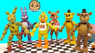 Complete Set Of Five Night's At Freddy's Funko Action Figures + Bonus Spring Trap thumbnail