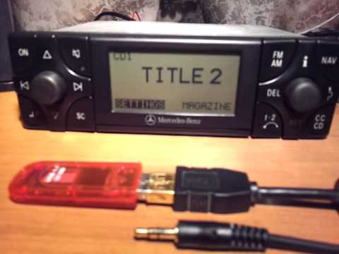 Mercedes магнитола+ USB+ AUX для W140 W124