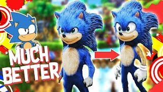 "Fixing the ""Sonic The Hedgehog movie"" design( PARAMOUNT USE THIS DESIGN)"