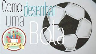 Como desenhar uma Bola de futebol - How to draw a soccer ball