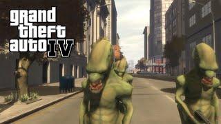 GTA IV MOD - Invasion Alien a Liberty City !!