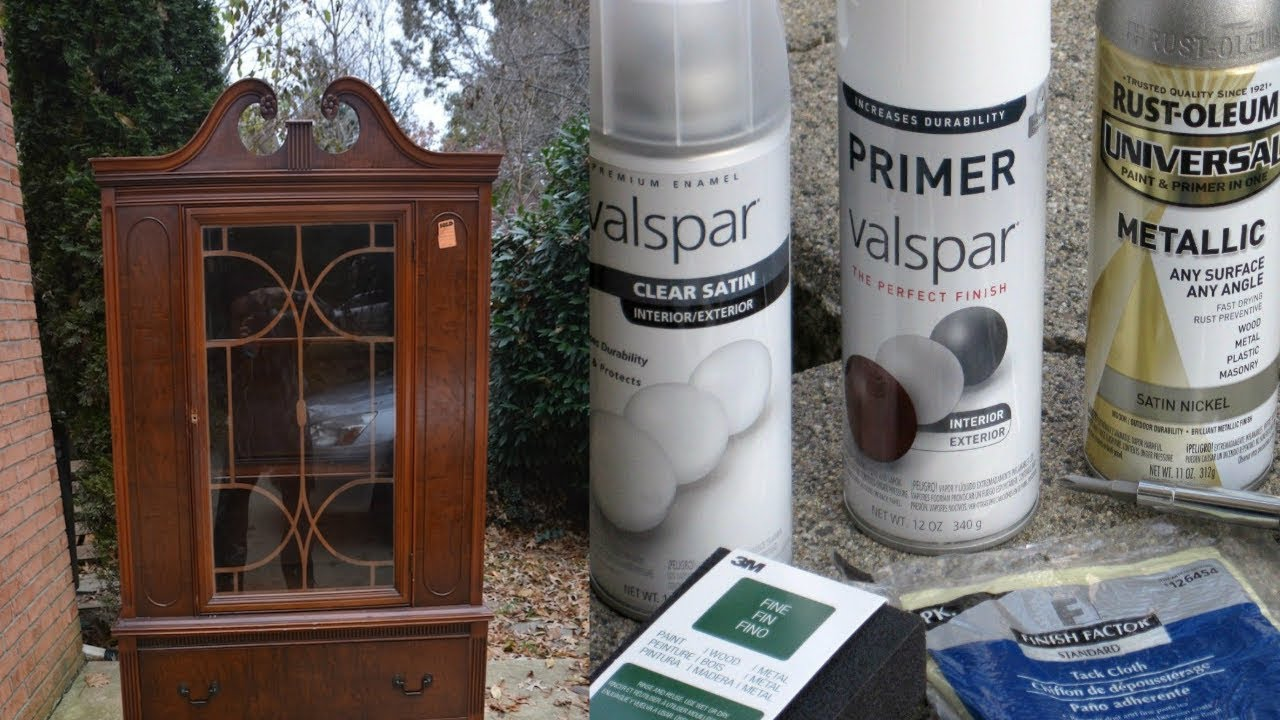 How To Spray Paint Furniture Youtube