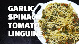 Garlic Spinach Tomato Pasta - Spinach Pasta recipes - Spinach Tomato Youtube