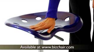 Vibrant Colored Tractor Seat And Chrome Stool (lf-214a-violet-gg)