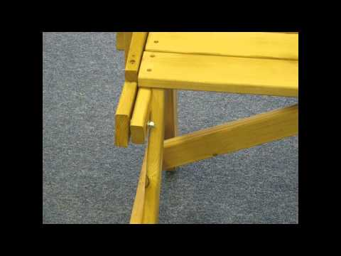 Amazing Portable Picnic Table from single sheet of plywood | Doovi