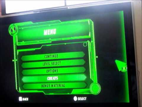 ben 10 ultimate alien cosmic destruction cheats ps2