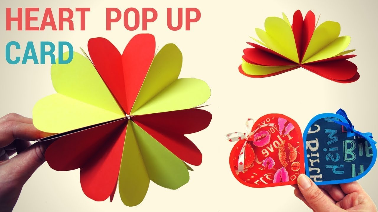 Pop up flower pop up heart card paper crafts tutorial pop up flower pop up heart card paper crafts tutorial easy diy handmade card making jeuxipadfo Choice Image