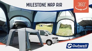 Milestone Nap Air Drive Away Air Awning - 360 video (2019)