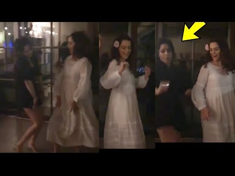 Kangana Ranaut and Ankita Lokhande Crazy Dance after Drinking At Manikarnika Sucess Bash