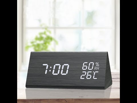 JALL 1502 Digital Wooden Alarm Clock Setting Instruction