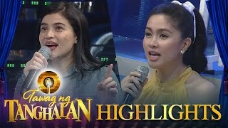 Tawag ng Tanghalan: Anne and Mariel try to sing 'Loving You'