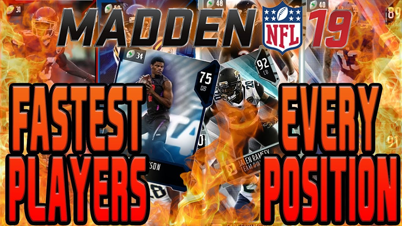MUT 19 FASTEST CARDS AT EACH POSITION!!! MUST HAVE PLAYERS