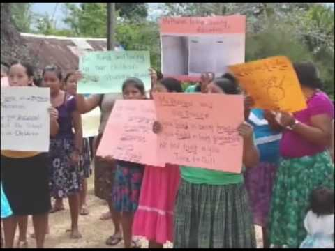 villagers of San Marcos in the Toledo District demnd removal of principal