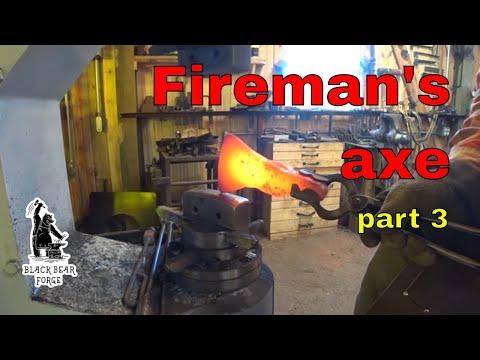 Forging the Fireman's axe part 3 correcting a problem