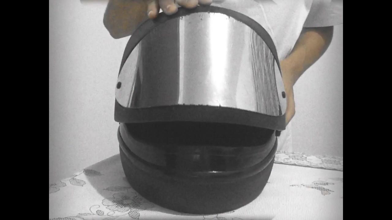 b493bedf9 Trocando viseira do capacete san marino. - YouTube