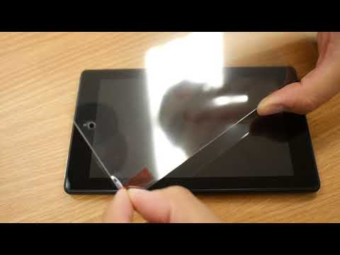 Tempered Glass Screen Protector Installation for Kindle Tablet by Hi-tech Wireless