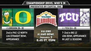 Oregon vs TCU in Alamo Bowl 2016