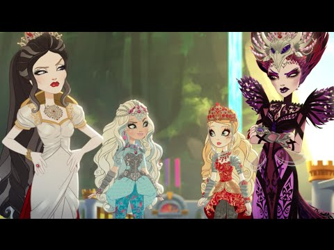 equipo blancanieves contra equipo reina malvada | ever after high