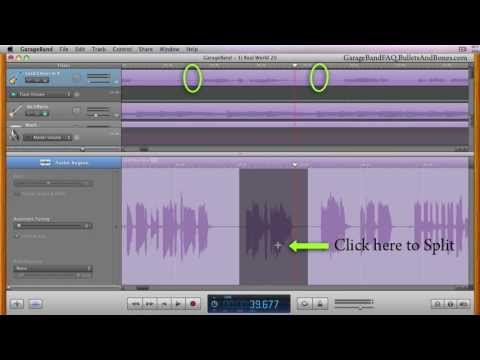 Delete Section with or without a gap in GarageBand - Minute GarageBand