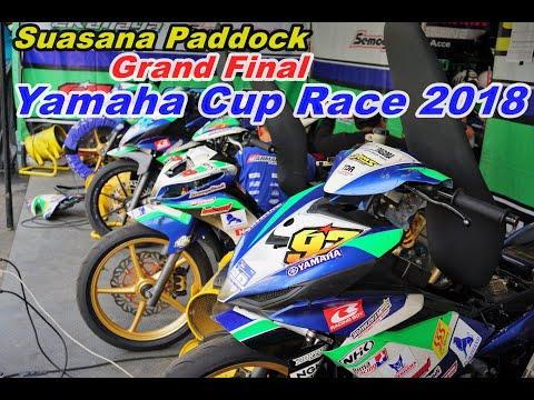 Suasana Paddock Final Yamaha Cup Race (YCR) Semarang 2018