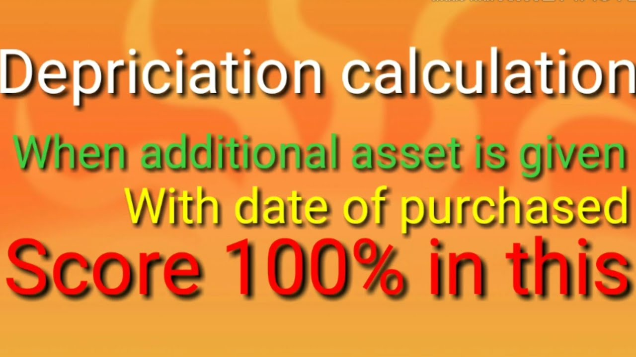 How to Calculate Depreciation when different date is given
