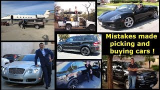 Most common mistakes made when picking or buying a vehicle for Uber and Lyft