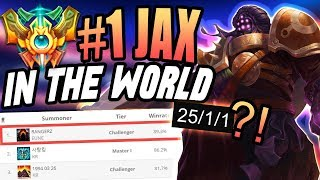 THE NUMBER ONE JAX IN THE WORLD IS AMAZING!! - Challenger Top - League of Legends