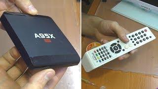 ПАРА ПРОСТЫХ РЕМОНТОВ / Android приставка A95X и пульт от т/в Supra STV-LC22811FL