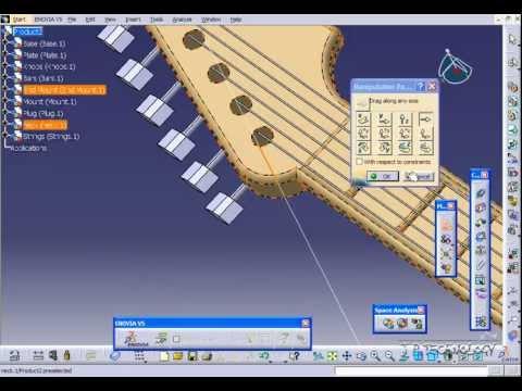 catia v5 tutorial 120 guitar positional assembly youtube. Black Bedroom Furniture Sets. Home Design Ideas