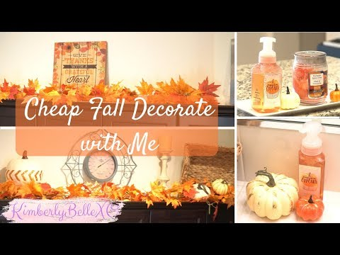Decorate w Me for Autumn | Fall Guest Bathroom and Fall Kitchen Decorating