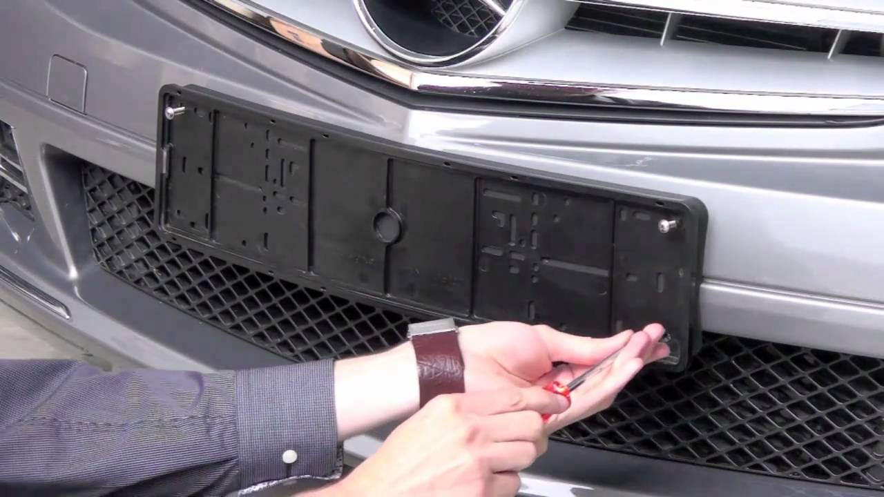 Kennzeichenhalter von CarSign - Montage - YouTube