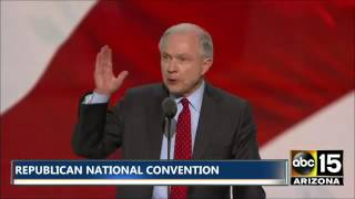 Crowd ERUPTS - Sen. Jeff Sessions Formally Nominates Donald Trump at Republican National Convention Free HD Video