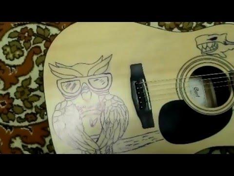 Как рисовать на гитаре