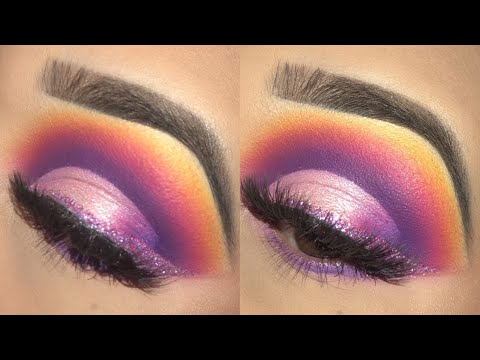 COLORFUL EYESHADOW WITH A GLITTER WING ✨MAKEUP TUTORIAL | MORPHE 35B PALETTE | Andrea Martinez thumbnail